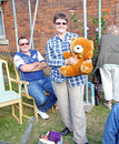 Teddy bear raffle winner photo of a garden fete with of at faversham in kent on th sept photo ideal for garden fetes ticket Stock Photo