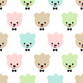 Teddy bear seamless pattern. Cute vector background with boy teddy bear. Royalty Free Stock Photo