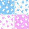 Teddy bear seamless patterns Royalty-vrije Stock Fotografie