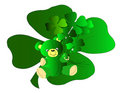 Teddy Bear Shamrocks Royalty Free Stock Image