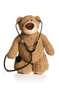 Teddy bear with stethoscope Royalty Free Stock Photo