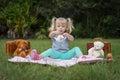Teddy bear tea party Royalty Free Stock Photo