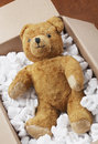 Teddy bear transport Stock Images