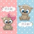 Teddy Bears boy and girl