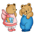 Teddy Bears Illustration Royalty Free Stock Photos