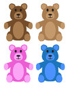 Teddy bears these are isolated on a white background Royalty Free Stock Photo