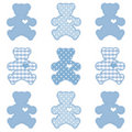 Teddy Bears, Pastel Blue Royalty Free Stock Images
