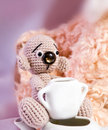 Teddy Bears and sugar Stock Photo