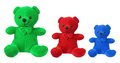 Teddy bears on white background Royalty Free Stock Images