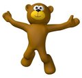 Teddy jump Royalty Free Stock Images