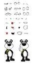Teddy Panda Bear Cartoon Emoti...