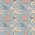 Teddy pattern Stock Photos