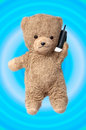 Teddy on the phone Royalty Free Stock Photos