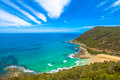 Teddy s lookout lorne victoria australia south of at the end of george street offers spectacular views of the st Royalty Free Stock Photography