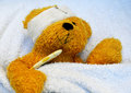 teddy is sick Royalty Free Stock Photo