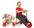 Teddy transport Royalty Free Stock Photography