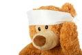 Teddybear with headache Royalty Free Stock Image