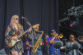 Tedeschi trucks band usa notodden blues festival won a grammy award for best album on stage at the pier each year the first week Stock Photo