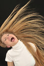 teen age girl Screaming Royalty Free Stock Photo