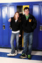 Teen Age School Couple Stock Image