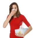 Teen with allergy or cold Royalty Free Stock Image