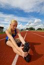 Teen athlete Stock Images
