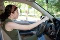 Teen Behind the Wheel Royalty Free Stock Photo