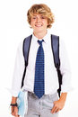Teen boy student Stock Image
