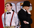 Teen Boys in a School Play Royalty Free Stock Photo