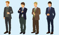 Teen boys in suits wearing and ties Royalty Free Stock Image