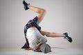 stock image of  Teen breakdance girl dancing