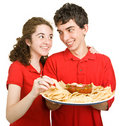 Teen Couple - Snack Time Royalty Free Stock Photo