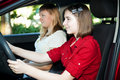 Teen Driver and Friend Stock Images
