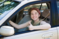 Teen Driver Thumbs Up Royalty Free Stock Photos