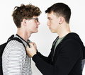 Teen Fight Anger Conflict Violence Aggression Royalty Free Stock Photo
