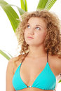 Teen girl in bikini - close up portrait Royalty Free Stock Photography