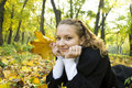 Teen Girl Enjoys Autumn Nature
