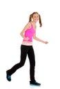 Teen girl laughing doing zumba fitness Royalty Free Stock Photo