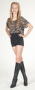 Teen Girl Modeling Fashion Clothes in Studio Royalty Free Stock Photo
