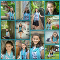 Teen Girl Portrait Collage Royalty Free Stock Photo