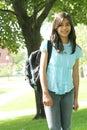 Teen girl ready for school