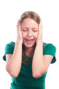 Teen girl screaming Royalty Free Stock Photo