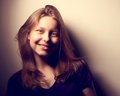 Teen girl smiling cute nice happy Royalty Free Stock Photography