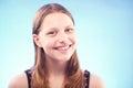 Teen girl smiling nice cute Stock Image
