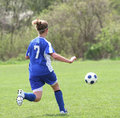 Teen Girl Soccer Player In Action 5 Royalty Free Stock Photo