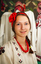 Teen girl wearing Ukrainian costume Royalty Free Stock Photography