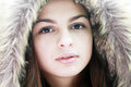 Teen girl in winter Royalty Free Stock Photo