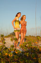 Teen girls at beach Royalty Free Stock Photography