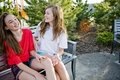 Teen girls laughing Royalty Free Stock Image