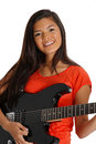 Teen Guitar Player Royalty Free Stock Photography